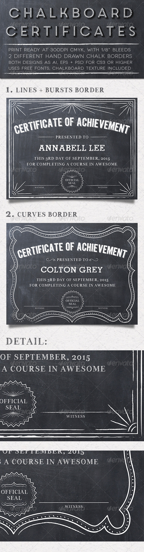 GraphicRiver Chalkboard Certificates 5565189