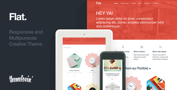 ThemeForest Flat Responsive and Multipurpose Creative Theme 5586779