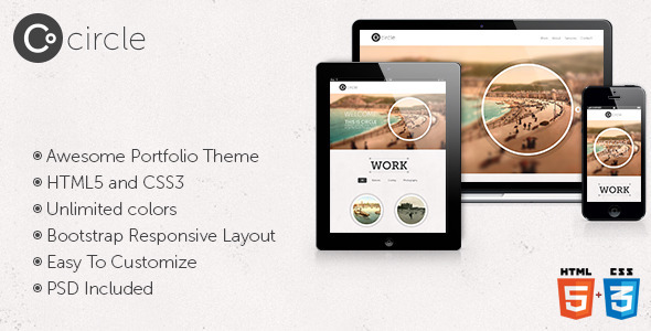 Circle - Responsive One Page HTML Template - Portfolio Creative