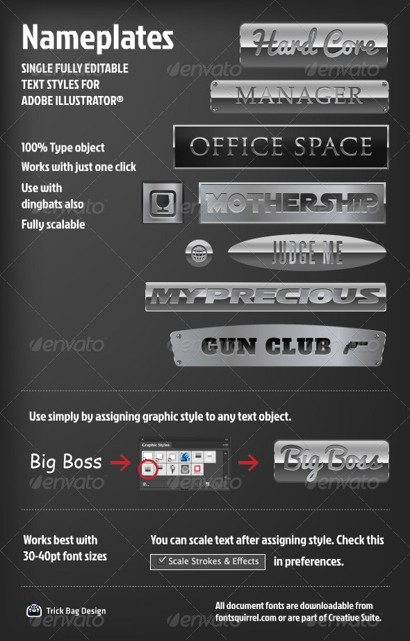 GraphicRiver Nameplate Text Styles 5600134