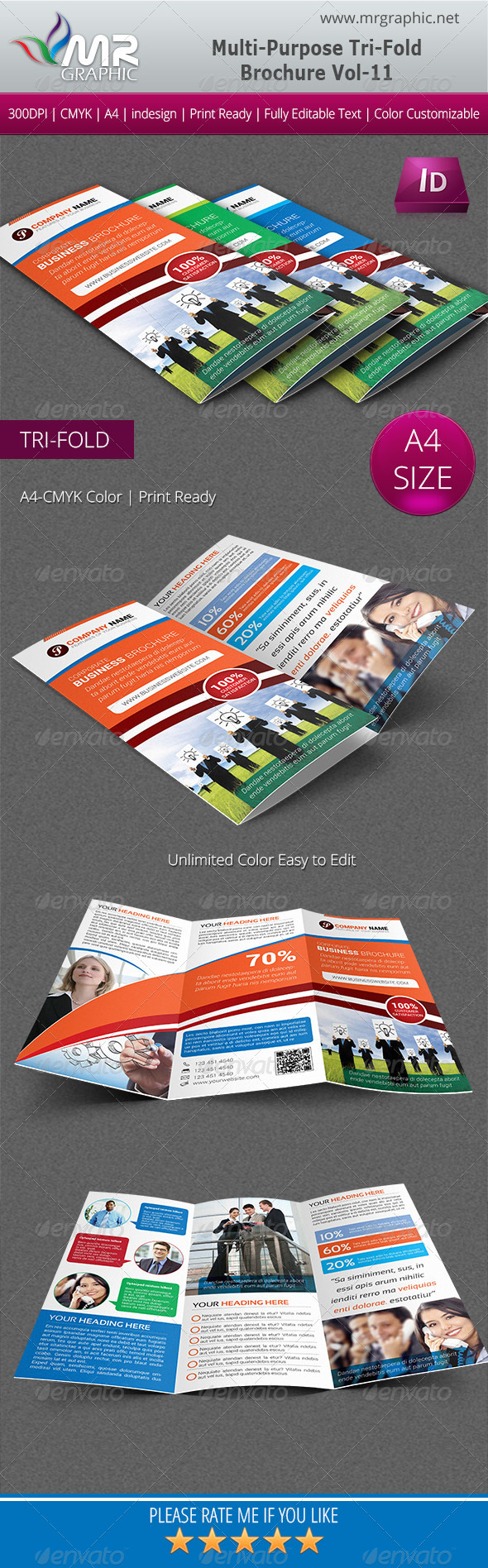 GraphicRiver Multipurpose Business Tri-Fold Brochure Vol-11 5600224
