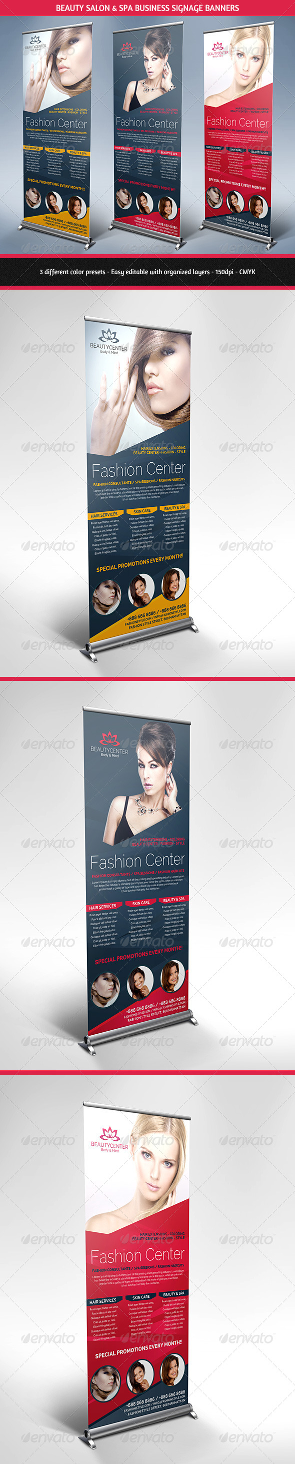 GraphicRiver Beauty Center & Spa Business Roll Up Banners 5600486
