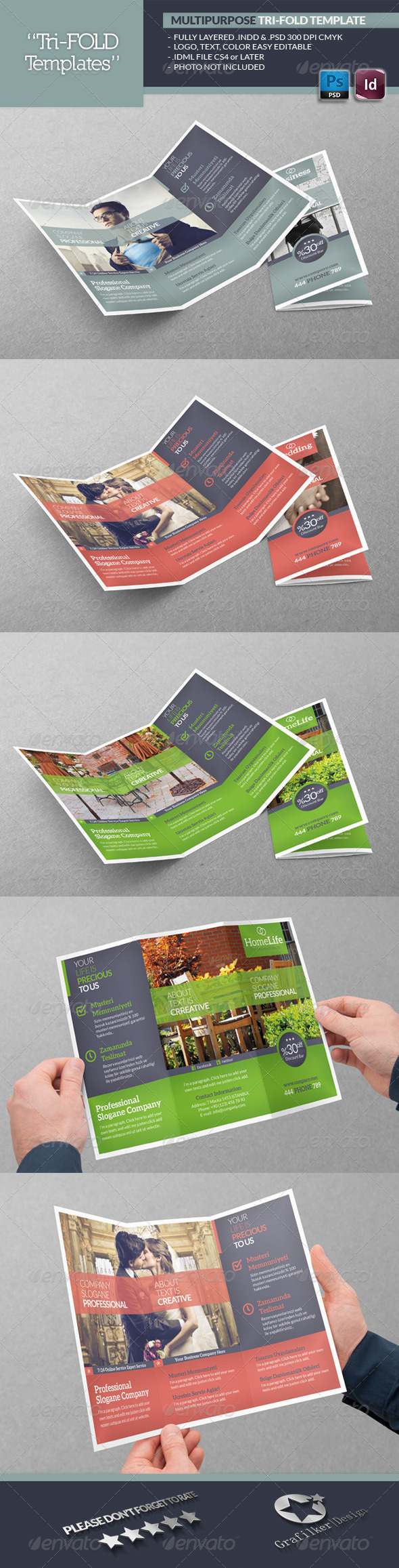 GraphicRiver Multipurpose Tri-Fold Template 5600714