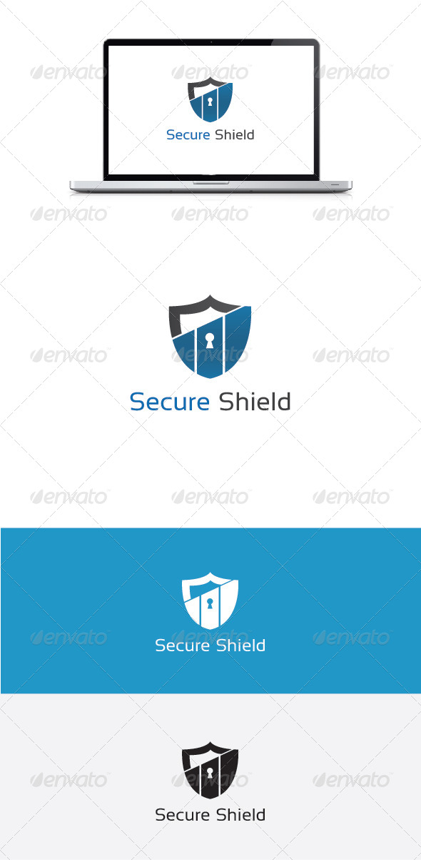 GraphicRiver Secure Shield Logo Template 5600834