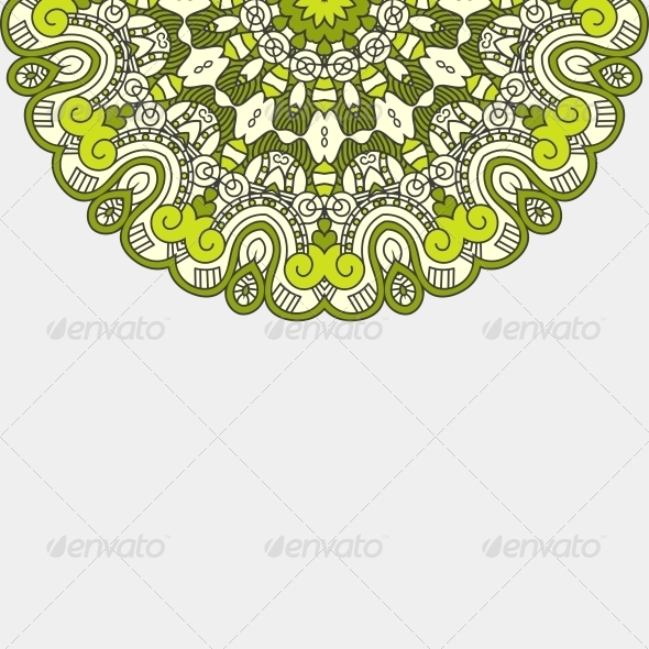 GraphicRiver Vector Round Decorative Design Element 5600996