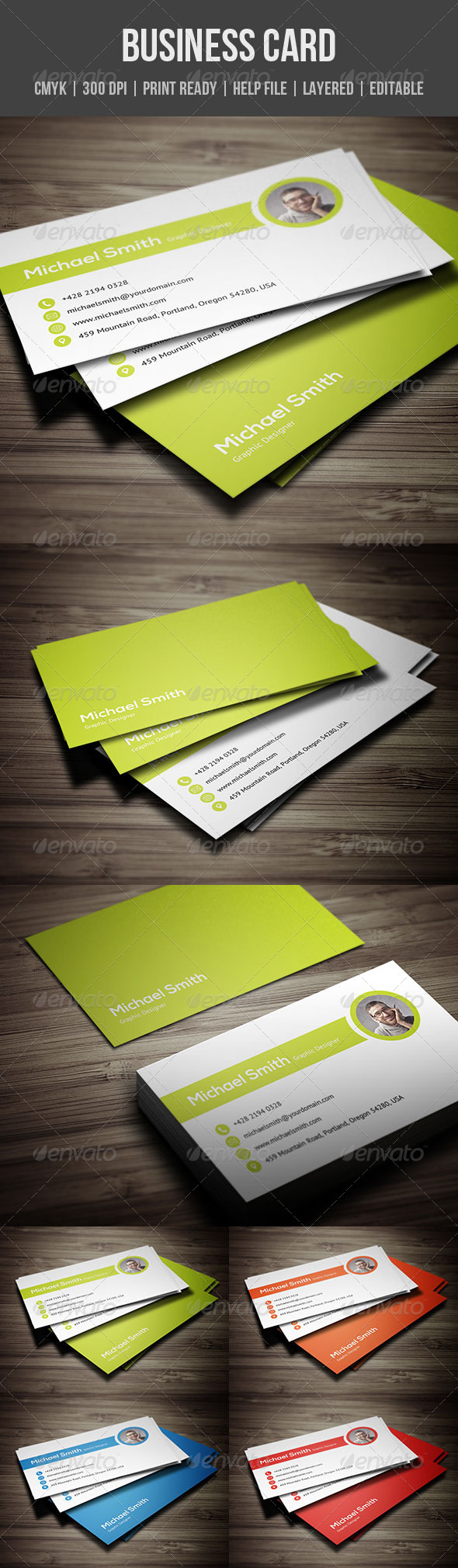GraphicRiver Clean Personal Business Card 5601204