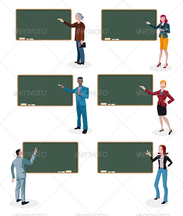 GraphicRiver Teachers and Empty Blackboards 5601280