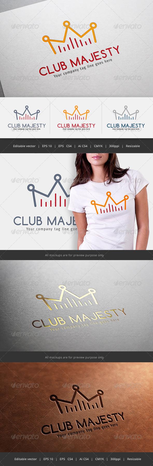 GraphicRiver Club Majesty Logo 5601382