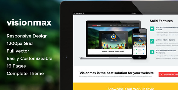 ThemeForest Visionmax Html 5 Multipurpose Template 5601410