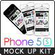 Phone 5s Mock Up Kit / 9 Files / 3 Phone Colors - GraphicRiver Item for Sale