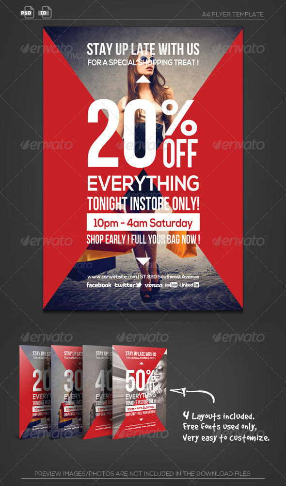 GraphicRiver Shopping Mall Sale Business Flyer 5601875