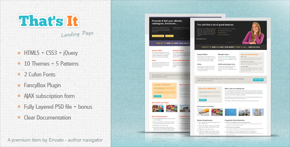 That's It - landing page