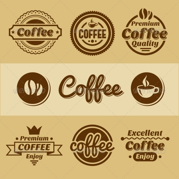 GraphicRiver Coffee Labels and Badges 5602893