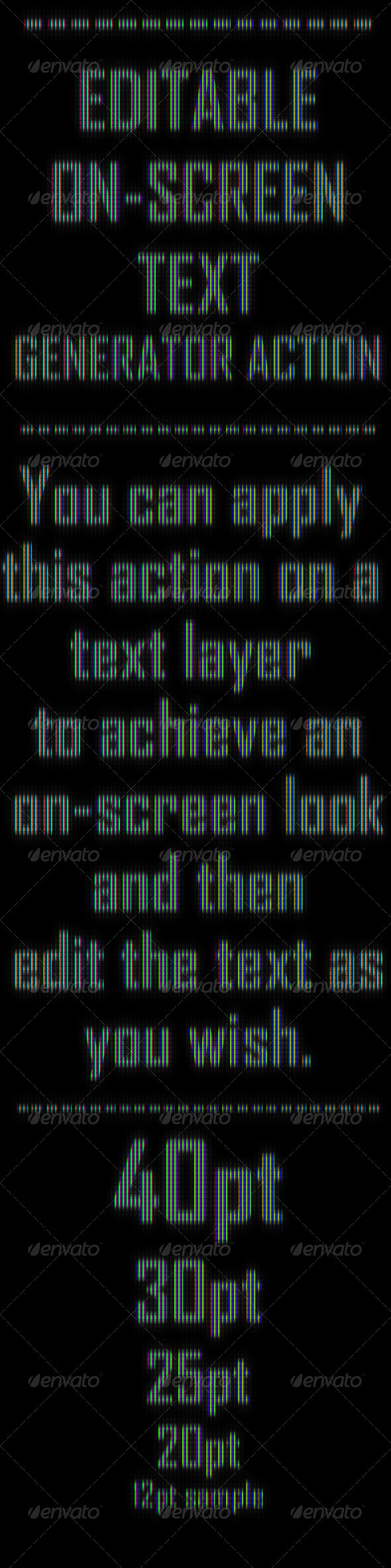 GraphicRiver Editable On-Screen Text Effect Generator Action 570801