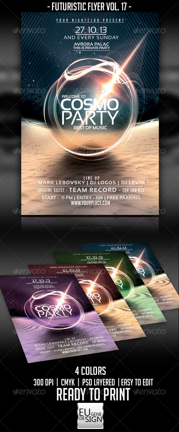 GraphicRiver Futuristic Flyer Vol 17 5603159