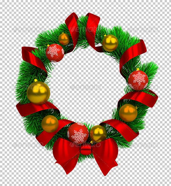 GraphicRiver Christmas wreath 5603386