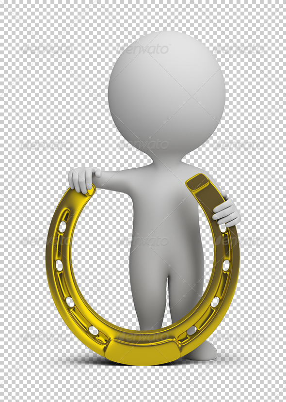 GraphicRiver 3D small people horseshoe 5603455