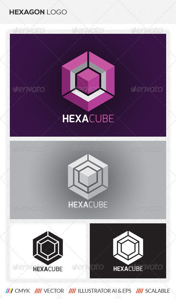 GraphicRiver Hexagon Cube Logo Template 5603466