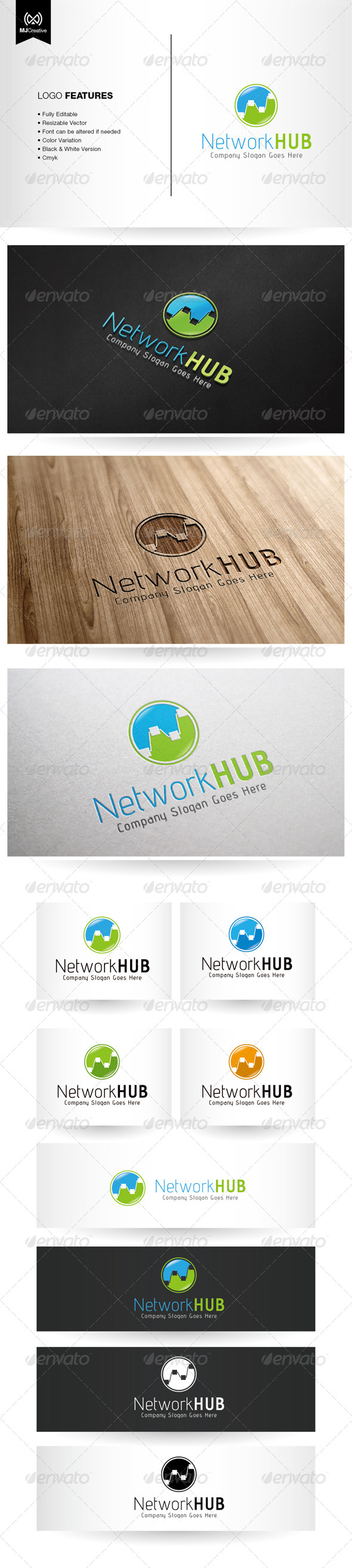 GraphicRiver Connection and Network Technology Logo 5603491