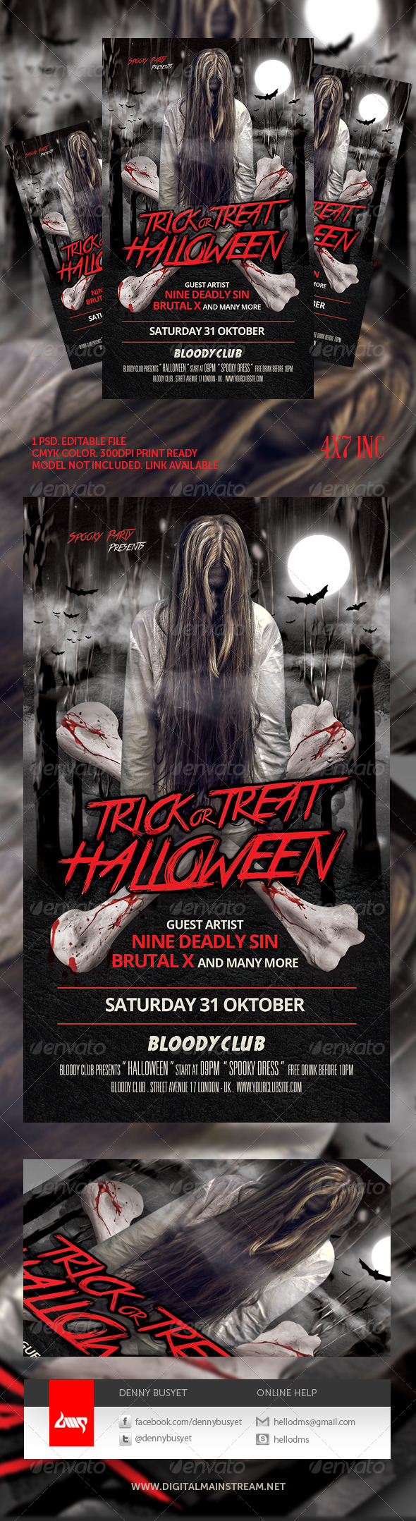 GraphicRiver Spooky Halloween Flyer Template 5603661