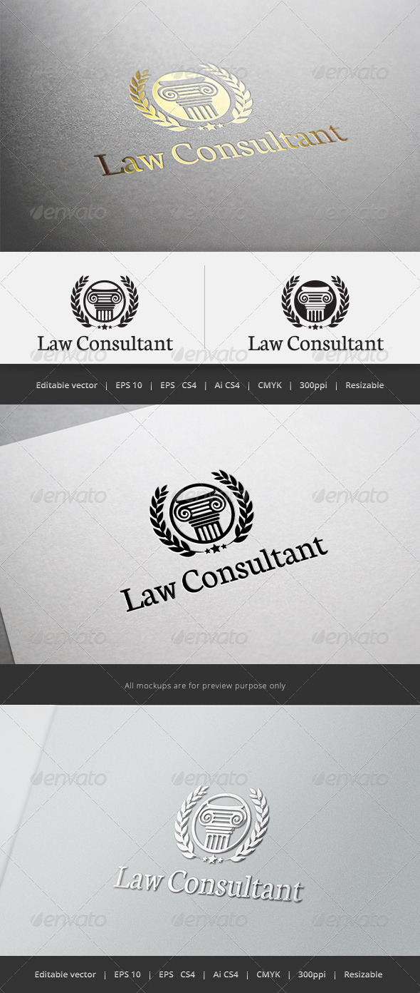GraphicRiver Law Consultant Logo 5603959
