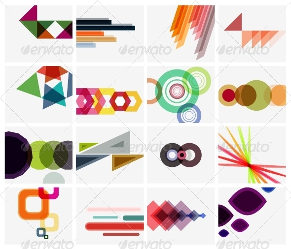 GraphicRiver Modern Geometrical Art Background Templates 5603961