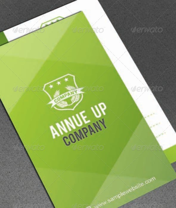 GraphicRiver Annu Green Business Card 5603974
