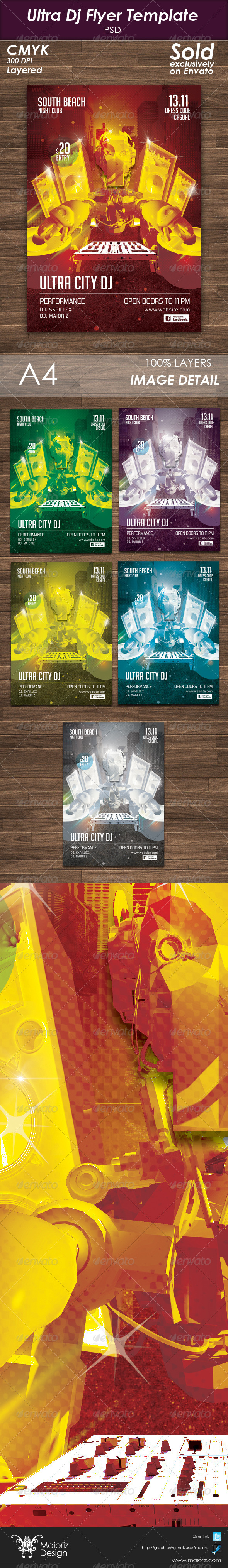 Ultra Dj Flyer Template - Clubs & Parties Events