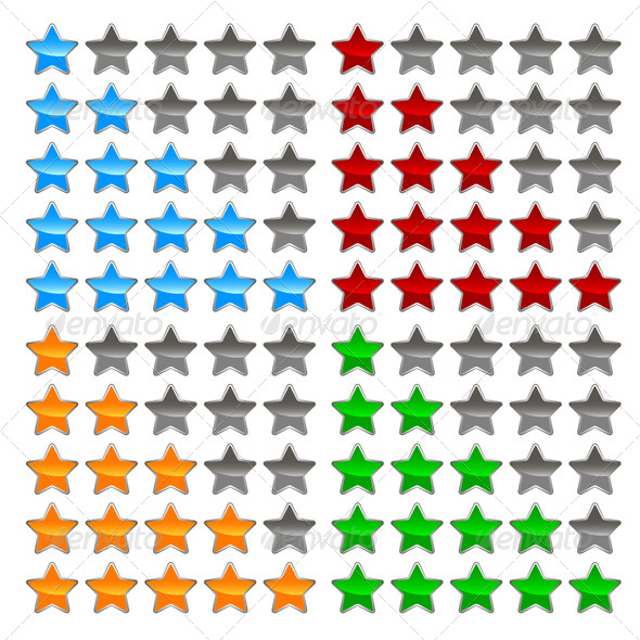 GraphicRiver Star Levels Set 5604036