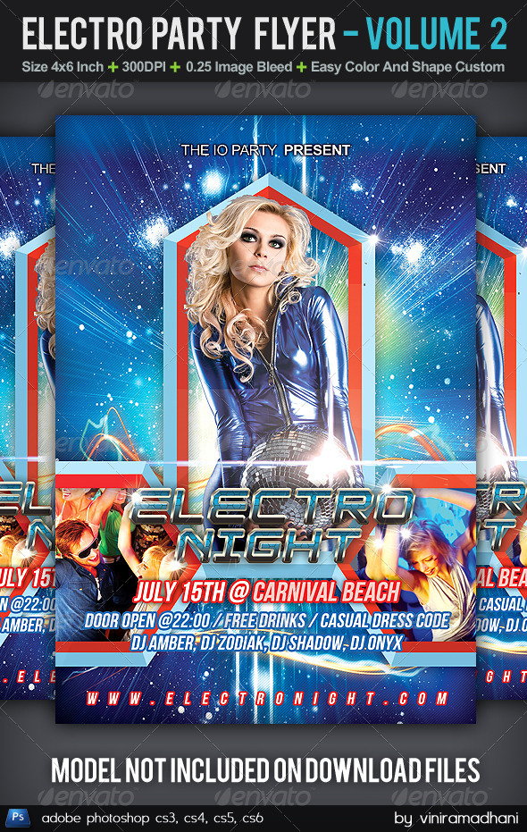 GraphicRiver Electro Party Flyer Volume 2 5604127