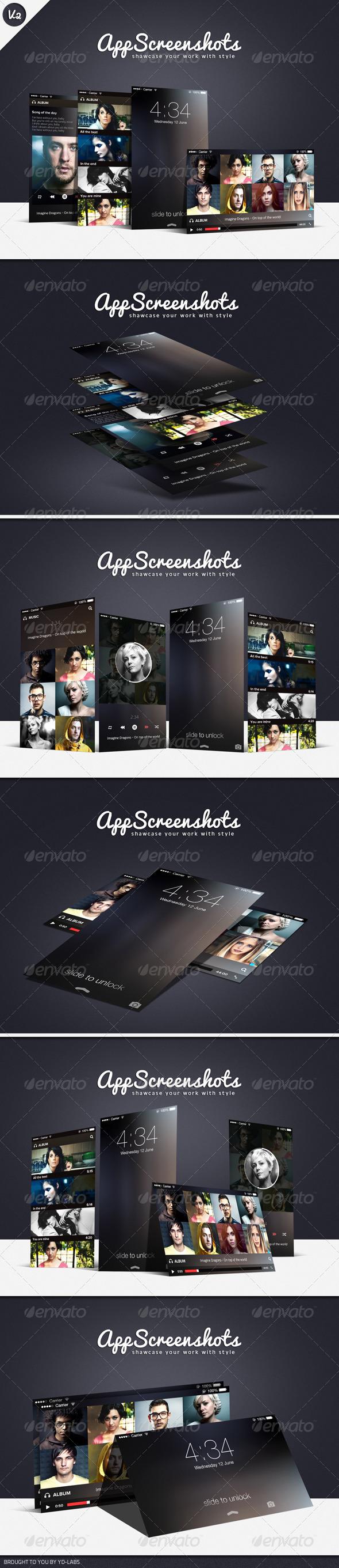 GraphicRiver App Screenshot Mockups V2 5604136