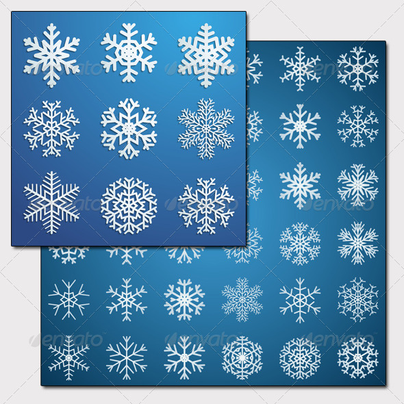 GraphicRiver Set of Snowflakes 5604146
