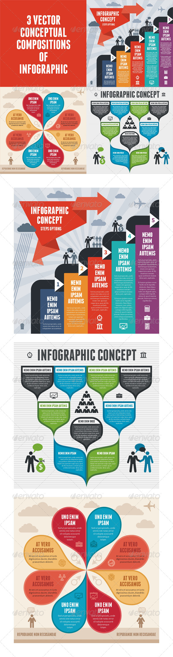 GraphicRiver Infographic Concept 3 Vector Schemes 5604147