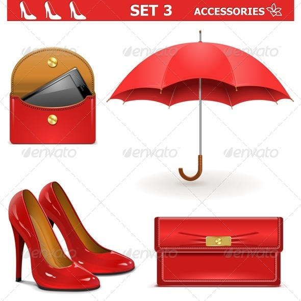 GraphicRiver Vector Female Accessories Set 5604152