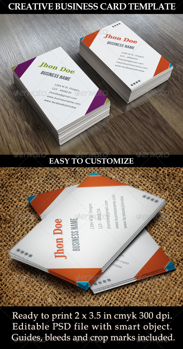 GraphicRiver Creative Business Card Template 5604257