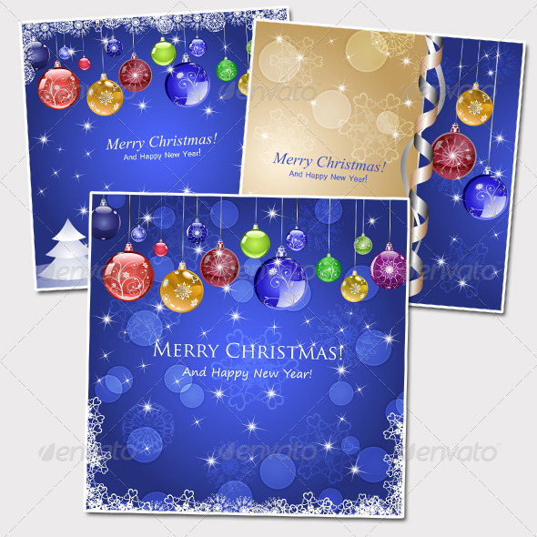 GraphicRiver Three Christmas Background 5604383