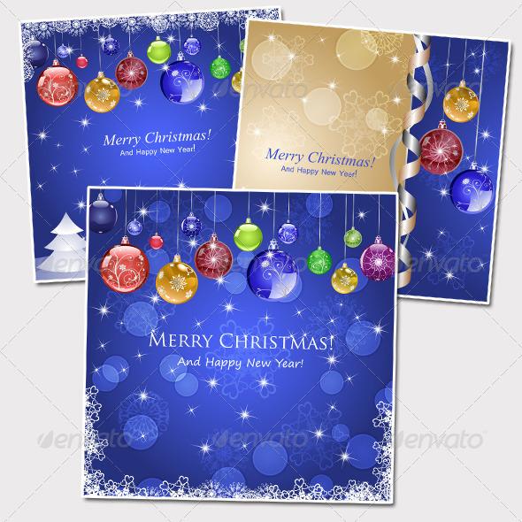Three Christmas Background - Christmas Seasons/Holidays