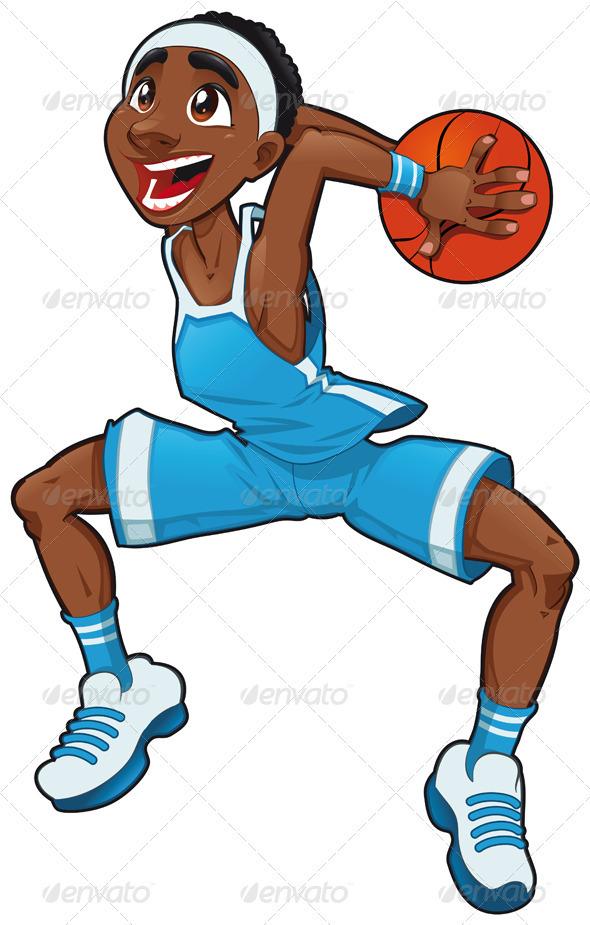 Cartoon Characters Playing Basketball : Basketball boy graphicriver