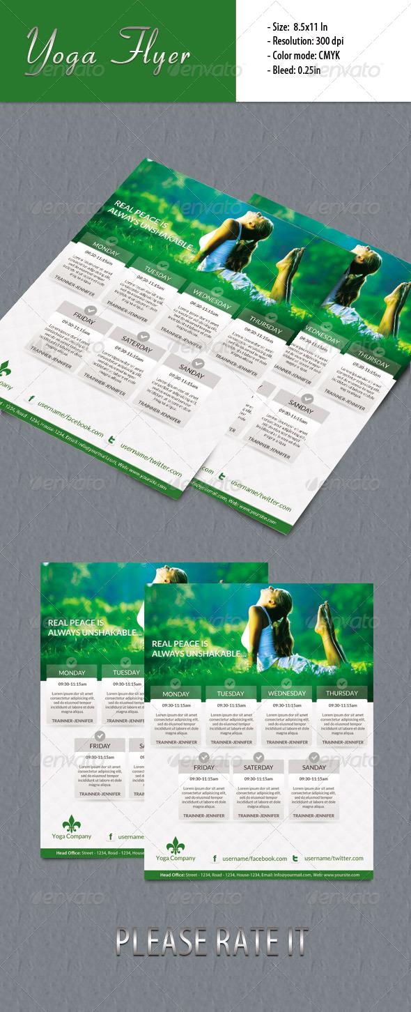 GraphicRiver Yoga Flyer 5604550