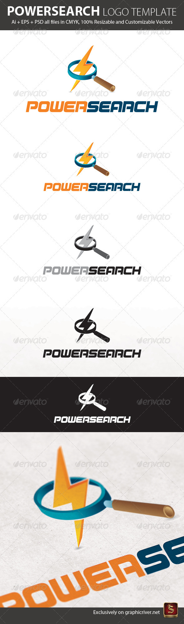 Powersearch Logo Template - Objects Logo Templates