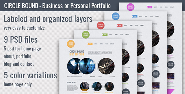 Circle Bound - Business or Personal Portfolio