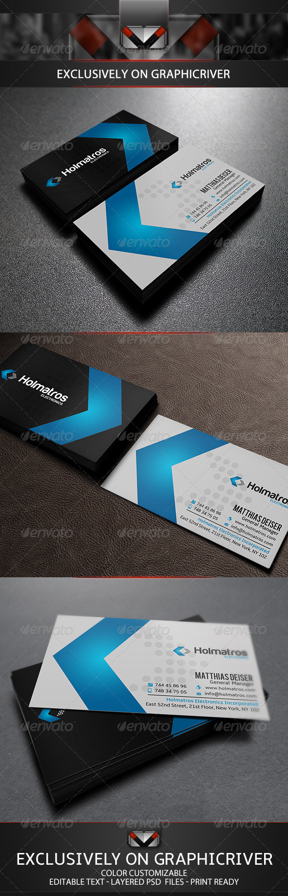 GraphicRiver Modern Blue Business Card 5604764