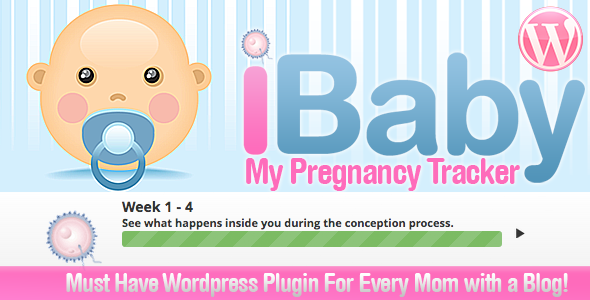 """My Baby Pregnancy Due Tracker for Wordpress is specially designed for pregnant """"Moms"""" who own a Wordpress powered blog and want to Keep track on the"""