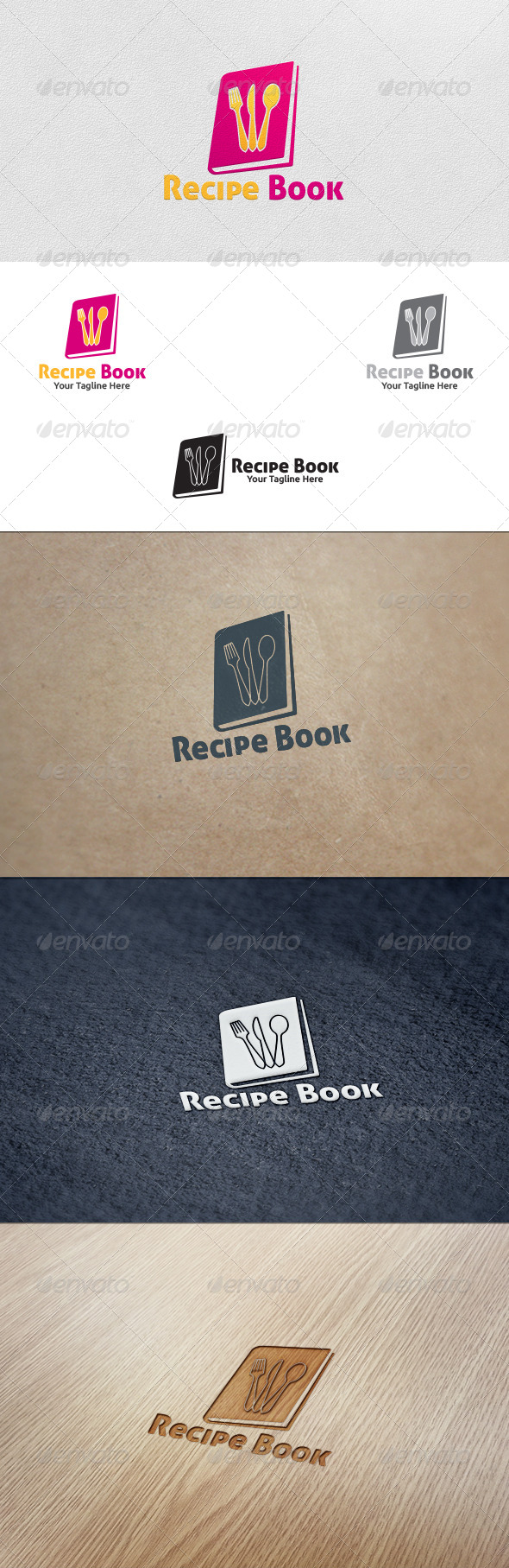 GraphicRiver Recipe Book Logo Template 5604790