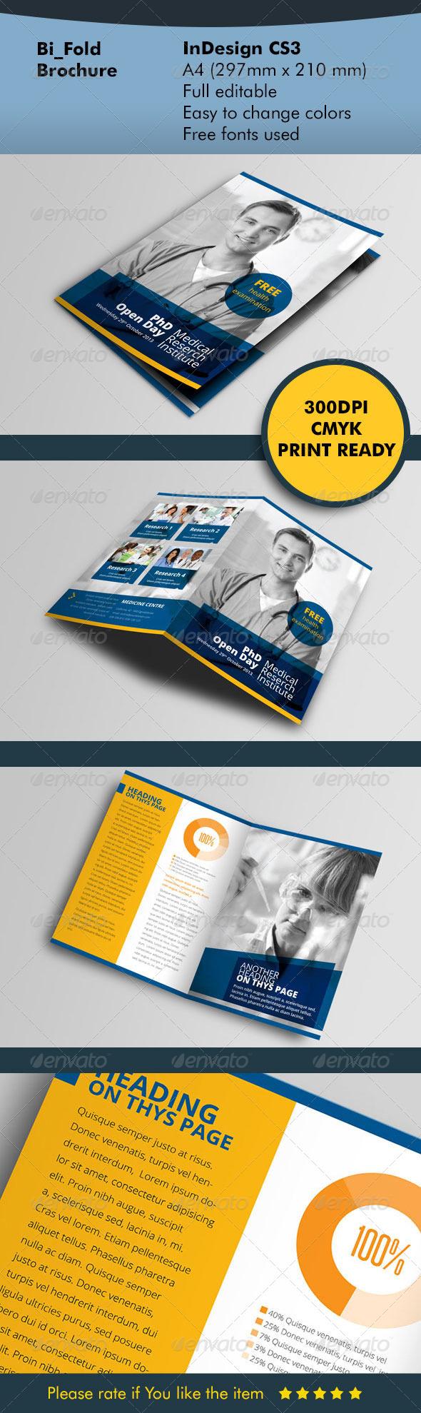 GraphicRiver BiFold Brochure Blue 5605169