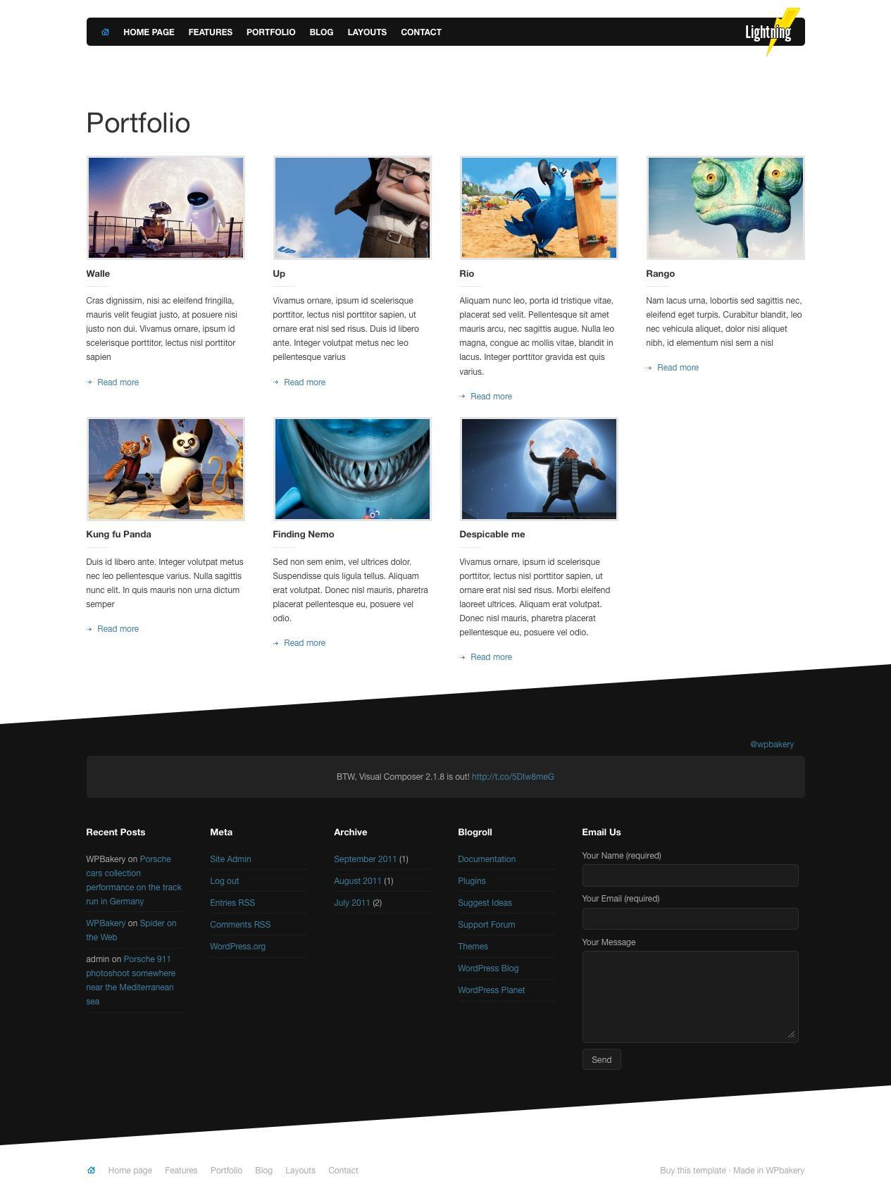 Lightning - Business & Portfolio WordPress Theme