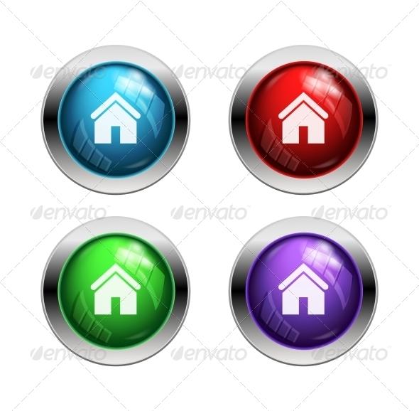 GraphicRiver Shiny Home Buttons 5605769