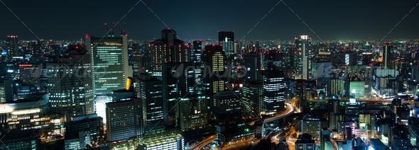 PhotoDune Osaka Skyline at night 576341
