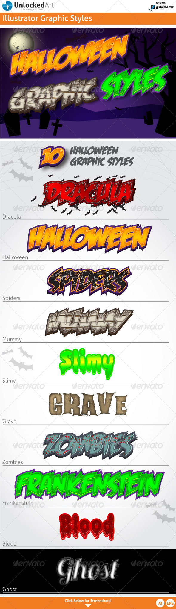 Halloween Graphic Styles - Illustrator Add-ons
