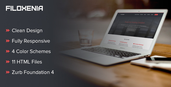 ThemeForest Filoxenia Responsive Hosting HTML Template 5607205